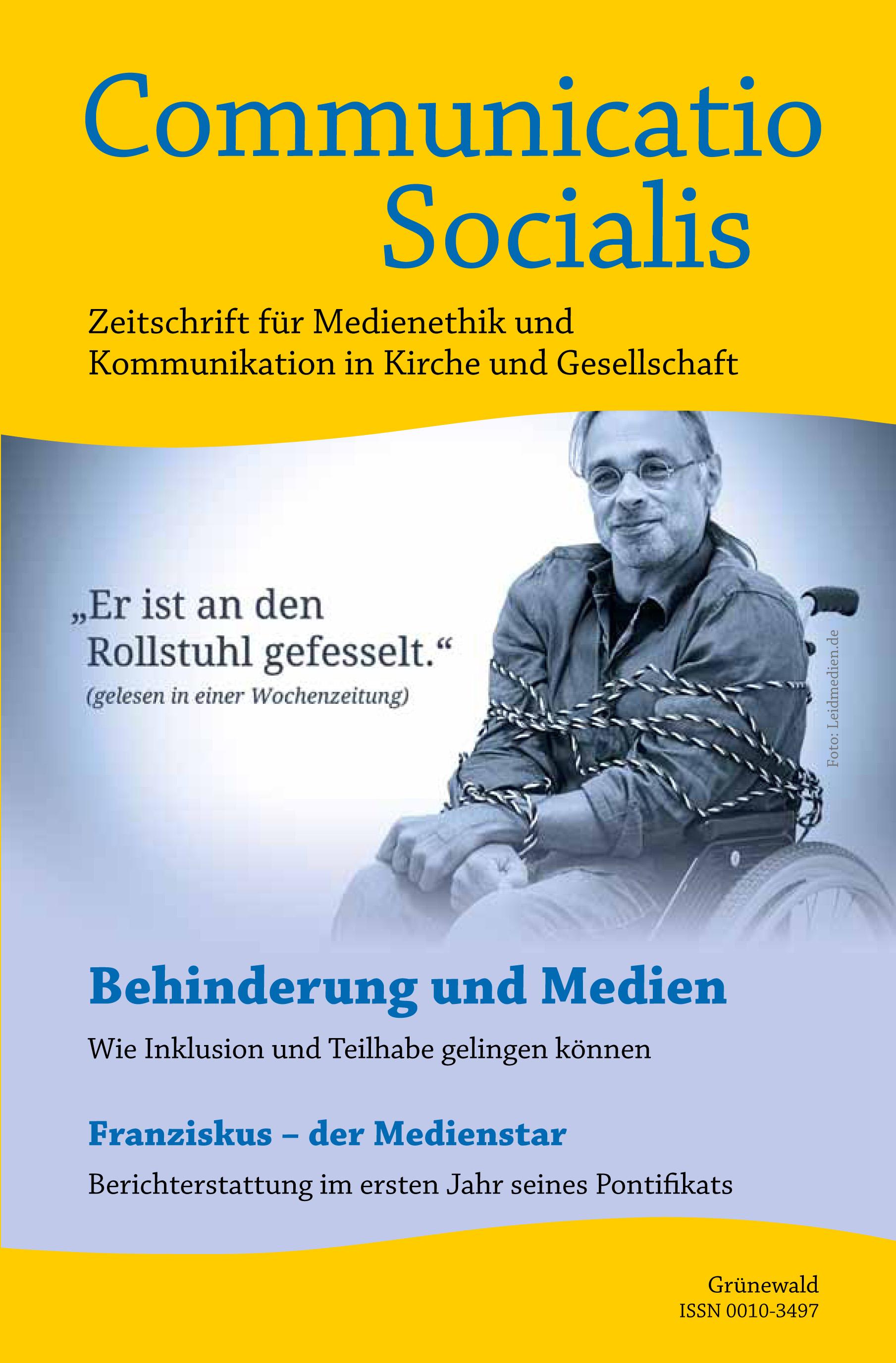 """Neue Ausgabe zum Thema """"Behinderung und Medien"""""""