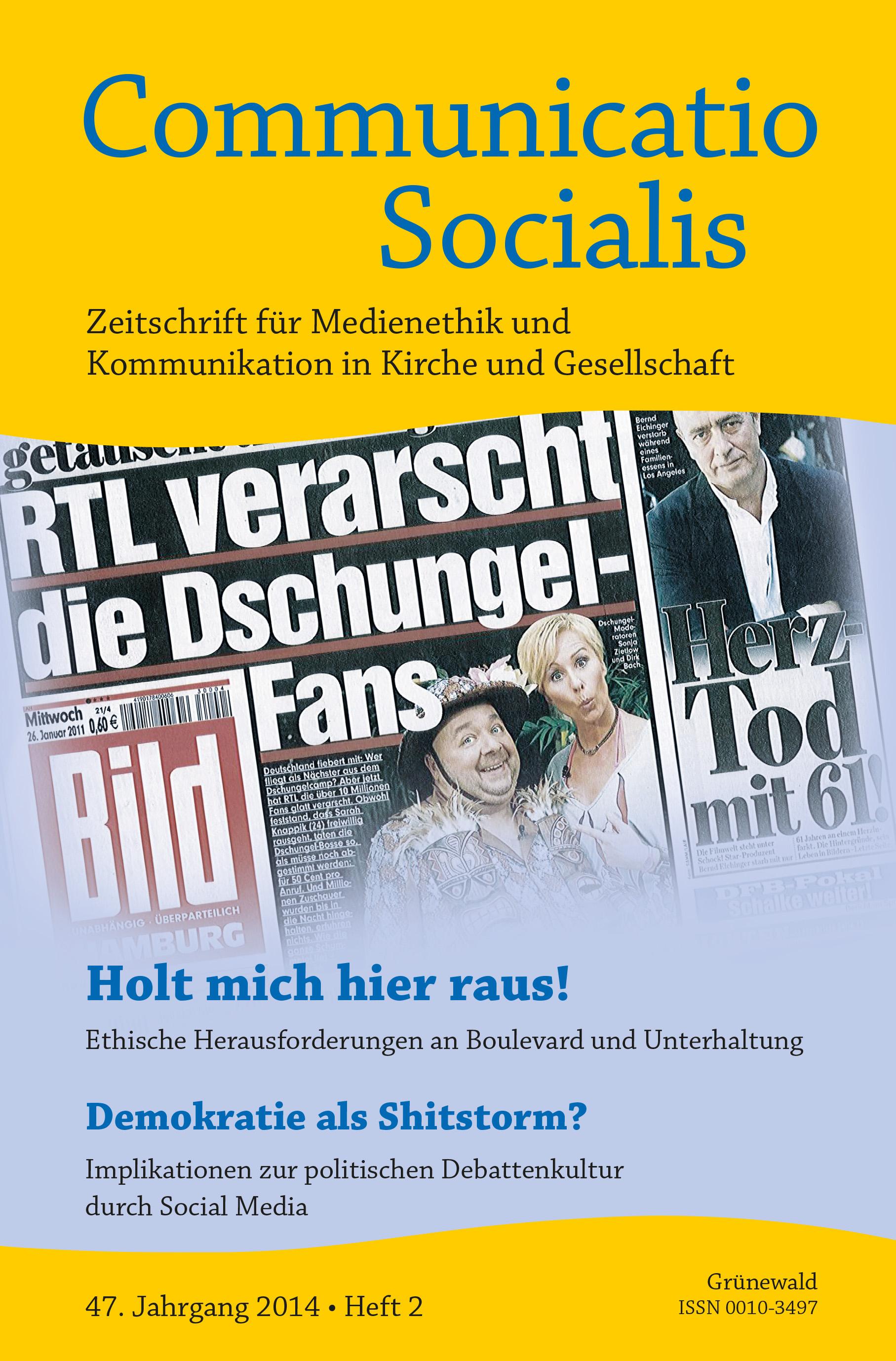 """Neue Ausgabe zum Thema """"Boulevard und Unterhaltung"""""""