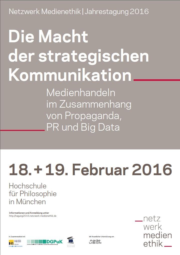 Jahrestagung Netzwerk Medienethik: Die Macht der strategischen Kommunikation