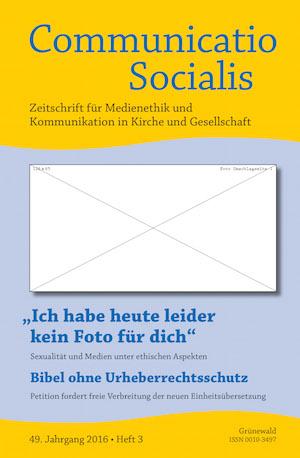Neue Ausgabe (03/16) von Communicatio Socialis zum Thema Sexualität und Medien erschienen!