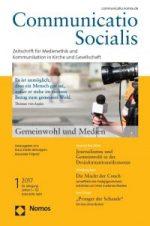 Neue Ausgabe (01/17) von Communicatio Socialis zum Thema Gemeinwohl und Kommunikation erschienen