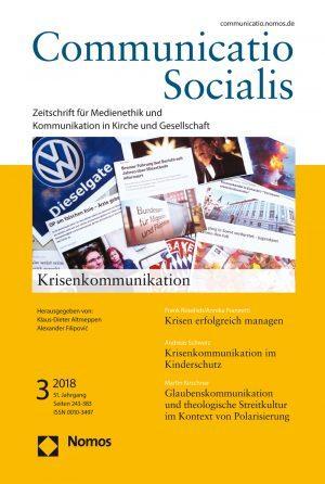 """Neue Ausgabe 3/2018 von Communicatio Socialis zum Thema """"Krisenkommunikation"""" erschienen"""