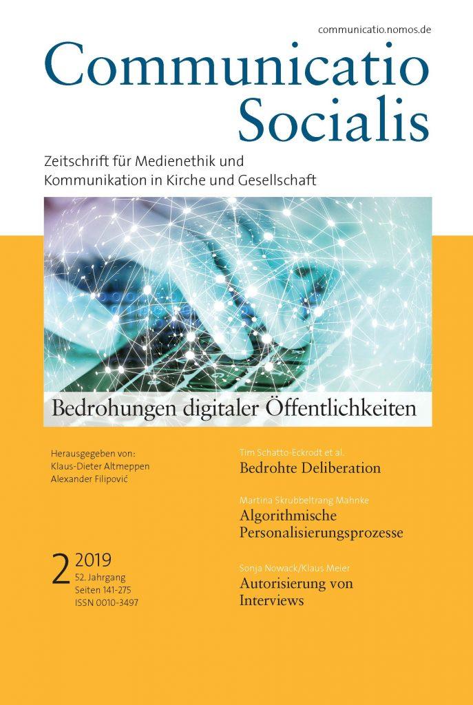 Cover: Communicatio Socialis 2/2019 - Bedrohungen digitaler Öffentlichkeiten